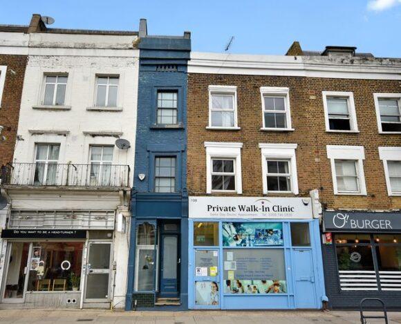Το στενότερο σπίτι του Λονδίνου πωλείται για 1 και πλέον εκατομμύριο ευρώ